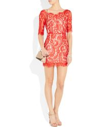 Lover - Red Christina Lace Dress - Lyst