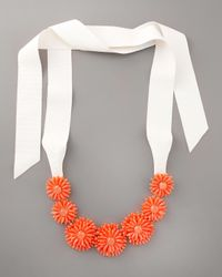 kate spade new york - Pink Gerbera Garden Statement Necklace - Lyst