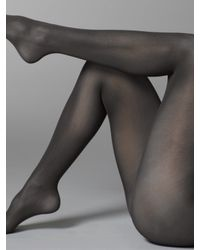 Wolford | Gray Velvet De Luxe Opaque Tights | Lyst