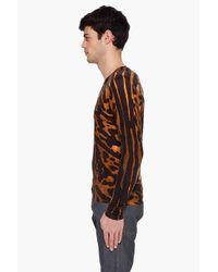 Alexander McQueen - Multicolor Leopard V-neck Sweater for Men - Lyst
