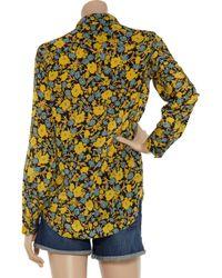 Equipment - Yellow Earl Poppy Garden Blouse - Lyst