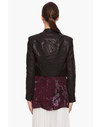 Helmut Lang | Black Waxed Leather Jacket | Lyst