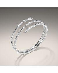 John Hardy | White Bamboo Lava Double Coil Bracelet | Lyst