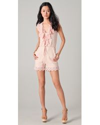 Alice By Temperley - Pink Surya Lace Playsuit - Lyst