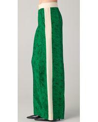 By Malene Birger - Green Hazia Print Tuxedo Pants - Lyst