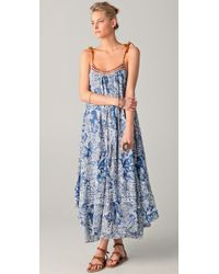 Free People | Blue The Moroccan Bandana Dress | Lyst