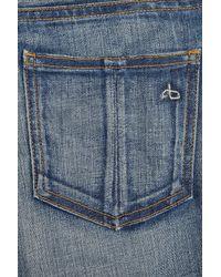 Rag & Bone | Blue High-rise Stretch-denim Shorts | Lyst