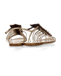Roberto Cavalli - White Crocodile and Leather Sandals - Lyst