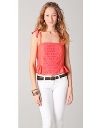 Textile Elizabeth and James | Red Julie Top | Lyst