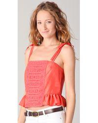 Textile Elizabeth and James | Red Julie Top | Lyst