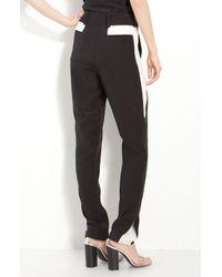 3.1 Phillip Lim | Black Silk Crêpe De Chine Side Panel Trousers | Lyst