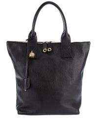 Alexander McQueen | Black Leather North-south Skull Shopper | Lyst