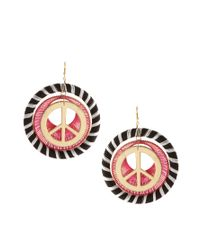 ASOS Collection - Multicolor Asos Peace Silk Wrapped Earrings - Lyst