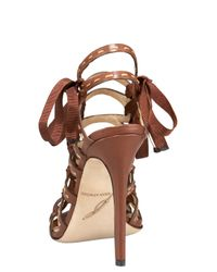B Brian Atwood - Brown Corset Sandal - Lyst