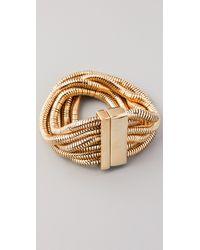 Belle Noel | Metallic Six Strand Snake Chain Bracelet | Lyst