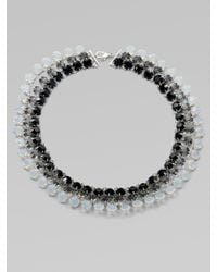 Ca&Lou - Black Debutante Multistrand Necklace - Lyst