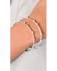 Elizabeth and James - Metallic Thorn Bangle Set - Lyst