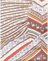 Free People - Gray Moroccan Tribal Print Bandeau Crop Top - Lyst
