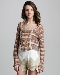 Free People | Brown The Phoenix Pullover Sweater in Spice Combo | Lyst