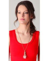 Juicy Couture - Purple Briolette Tassel Necklace - Lyst