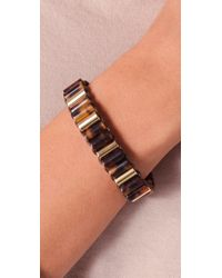 Michael Kors - Metallic Sleek Exotics Tortoise Bracelet - Lyst