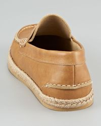Ralph Lauren - Brown Espadrillebottom Penny Loafer for Men - Lyst