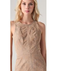 Rebecca Taylor - Natural Python Suede Tank Dress - Lyst