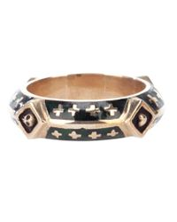 Tobias Wistisen | Black Bronze Enameled Motif Ring for Men | Lyst