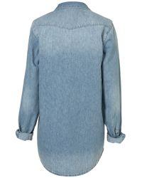 TOPSHOP | Blue Oversized Denim Shirt | Lyst