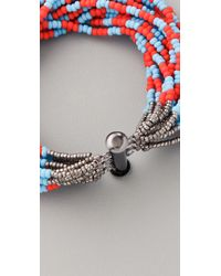 Bluma Project - Blue Tribal Stripe Bracelet - Lyst