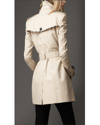 Burberry | Beige Check Edged Trench Coat | Lyst