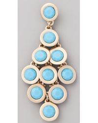 Kenneth Jay Lane - Blue Cabochon Chandelier Earrings - Lyst