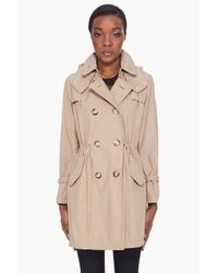 Moncler | Natural Tariec Drawstring Trench Coat | Lyst