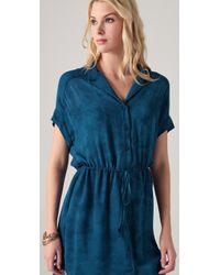 Obakki - Blue Berlin Shirtdress - Lyst