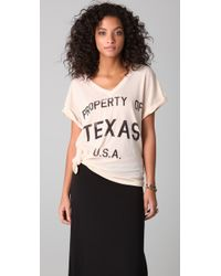 Wildfox - Natural Property Of Texas Oversized V - Lyst