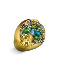 Alexis Bittar | Metallic Matte Gold Scarab Garden Ring | Lyst