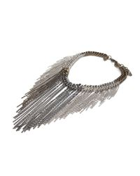 DANNIJO | Black Preorder Chain and Fringe Necklace | Lyst