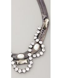 Fallon | Metallic Ines Snake Necklace | Lyst