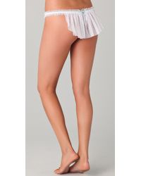 Hanky Panky - White Veiled Thong - Lyst