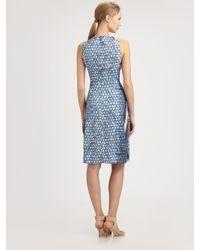 Peter Pilotto - Blue Silk Dress - Lyst