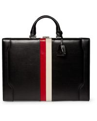 Gucci - Black Striped Leather Briefcase for Men - Lyst