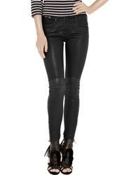 Notify - Natural Bamboo 75 Biker Mid-rise Leather Pants - Lyst
