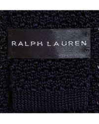 Ralph Lauren Black Label | Blue Slim Knitted-silk Tie for Men | Lyst