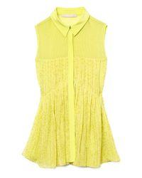 Jason Wu | Yellow Sleeveless Pleated Blouse | Lyst