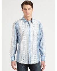 Robert Graham - Blue Sentosa Patterned Sportshirt for Men - Lyst