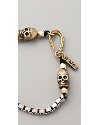 Vanessa Mooney | Metallic Box Chain Skull Bracelet | Lyst