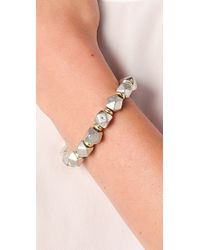 Vanessa Mooney - Metallic Large Nugget Bracelet - Lyst