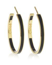 Chloé | Black Holly Hoop Earrings | Lyst