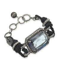 Lanvin - Blue Rope and Crystal Bracelet - Lyst