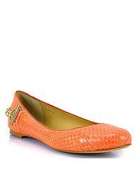 Rachel Zoe | Laura - Orange Leather Ballerina Shoes | Lyst